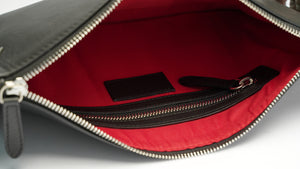 Black Smooth Leather Pouch Holder - PRE-ORDER - Antoni Manuel