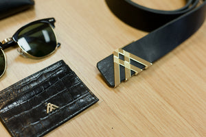 Black Croc Wallet Card Holder - Antoni Manuel