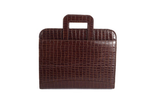 Croc leather briefcase online