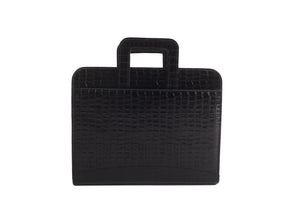 Black leather briefcase bag online for men