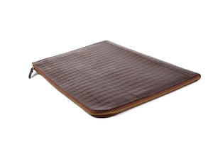 brown leather document holder