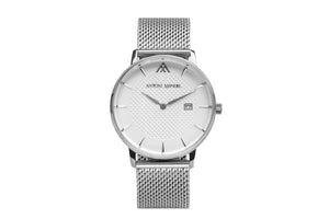 White Stainless Steal G.Miller Classico Metal Strap Watch - Antoni Manuel