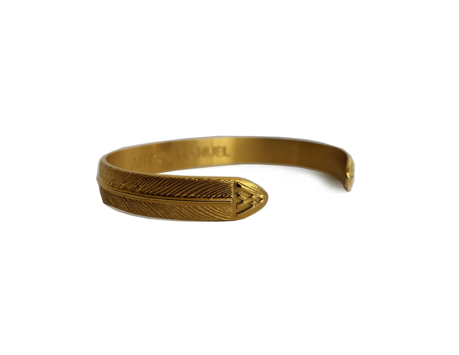 Gold Roman Cuff Bangle - Small