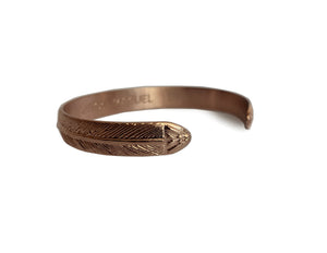 Rose Gold Roman Cuff Bangle - Small
