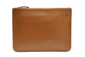 Tan Smooth Leather Pouch Holder - PRE-ORDER - Antoni Manuel