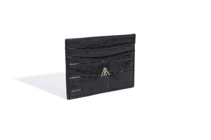 Black Croc Wallet Card Holder