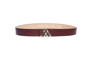 brown leather belt for men