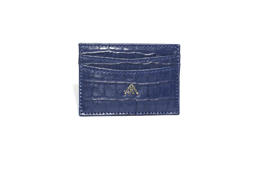 Blue Croc Wallet Card Holder