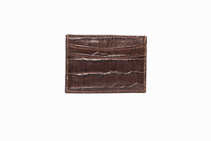 Brown Croc Wallet Card Holder