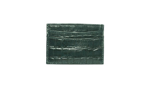 Green Croc Wallet Card Holder