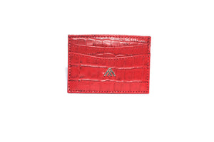 Red Croc Wallet Card Holder - Antoni Manuel