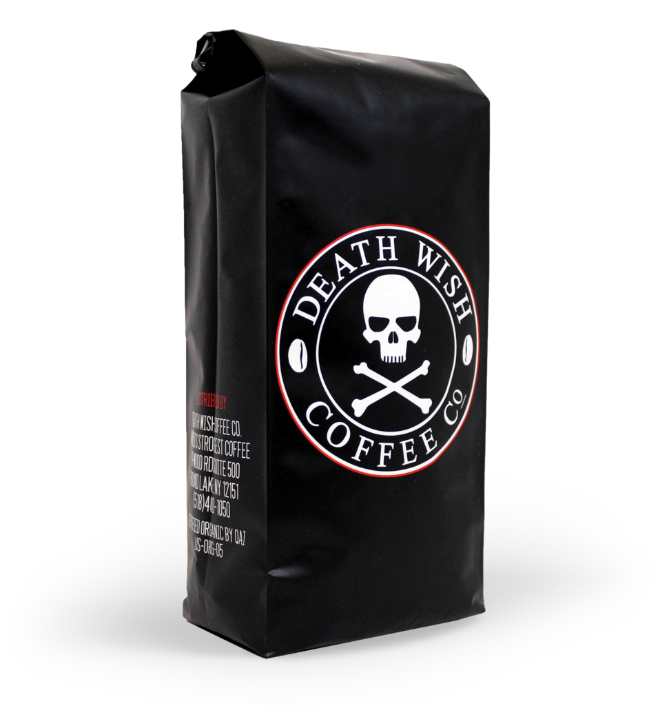 Bag of Death Wish Coffee