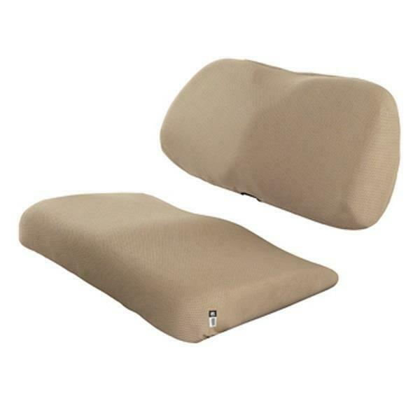 Diamond air mesh golf car seat cover Light Khaki