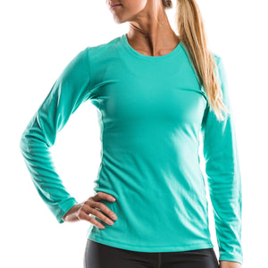 SeasonFive Women's Dolores Atmos LT activerwear Long Sleeve shirt, great for; biking, watersports, surfing, sailing, paddle boarding, fishing, sun protection, and trail running
