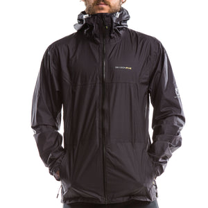 SeasonFive Men's Crestone Rain Shell jacket great for; biking, watersports, sailing, paddle boarding, fishing, trails, training, and backpacking