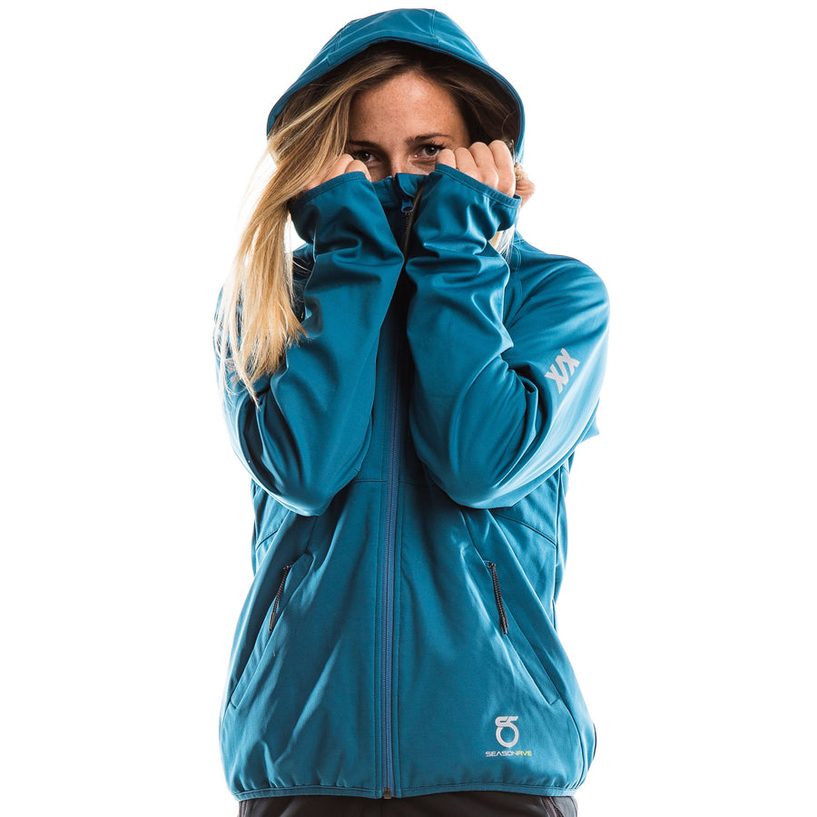 SeasonFive Women's  Atmos 2.0 Geneva Hoodie great for; kayaking, watersports, sailing, paddle boarding, fishing, snowsports, biking, trails, outerwear, and cold weather