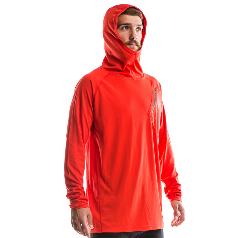 SeasonFive Men's Atmos LT Spruce Hoodie great for; biking, fishing, sailing, paddle boarding, trails, surfing, sun protection, watersports, and any activewear