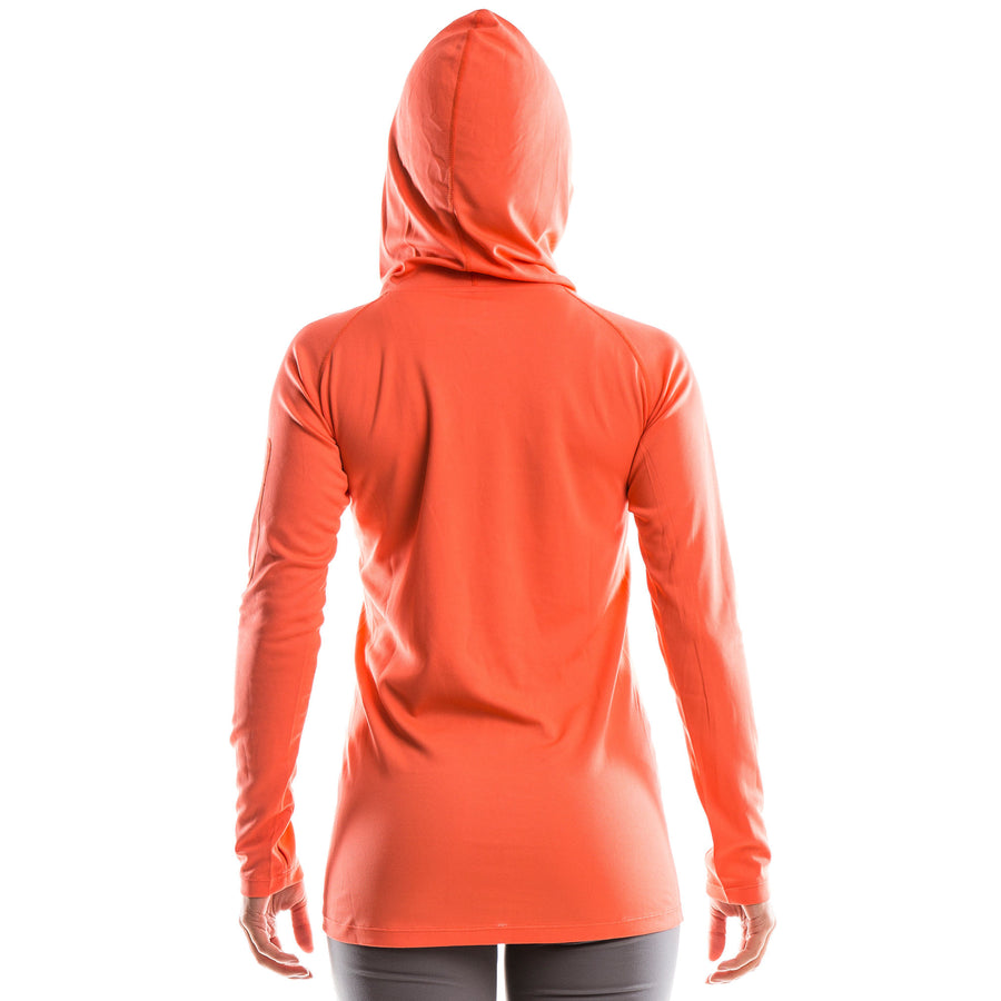 SeasonFive Women's Atmos LT Swan Hoodie great for; biking, fishing, sailing, paddle boarding, trails, surfing, sun protection, watersports, and any activewear