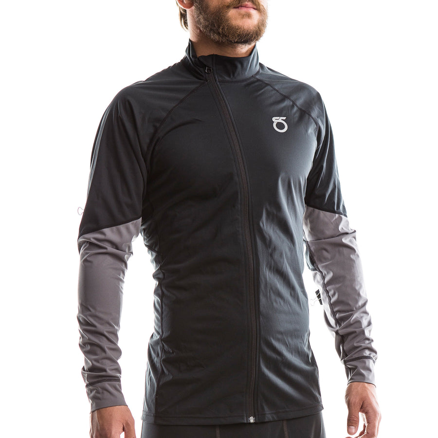 SeasonFive Men's Phantom Atmos 1.0 full zip top for standup paddleboarding, sup, kayaking, water sports, snowsports, sailing, biking, and surfing