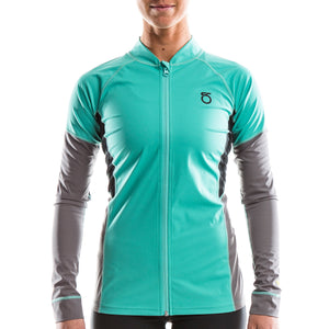 SeasonFive Women's Siren Atmos 1.0 full zip top for standup paddleboarding, sup, kayaking, water sports, snowsports, sailing, biking, and surfing