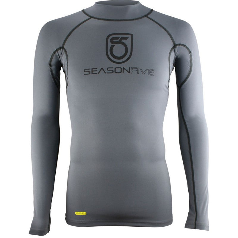 SeasonFive Men's Barrier Mock Atmos 1.0 shirt great for kayaking, watersports, surfing, sailing, paddle boarding, fishing, snowsports, and as a base layer