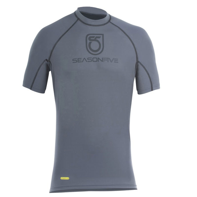 An image of a gray Barrier Short-Sleeve Crew-Neck Shirt from SeasonFive