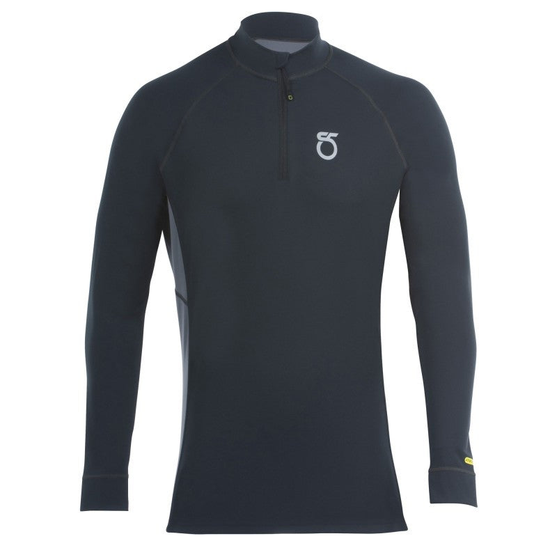 An image of a black Men's Phantom Long-Sleeve Quarter Zip from SeasonFive.