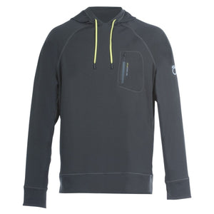 An image of a gray Men's Slate Hoodie from SeasonFive.