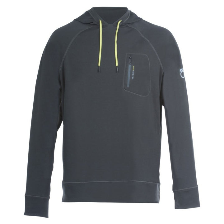 SeasonFive Men's Atmos LT Slate Hoodie great for; biking, fishing, sailing, paddle boarding, trails, surfing, sun protection, and watersports