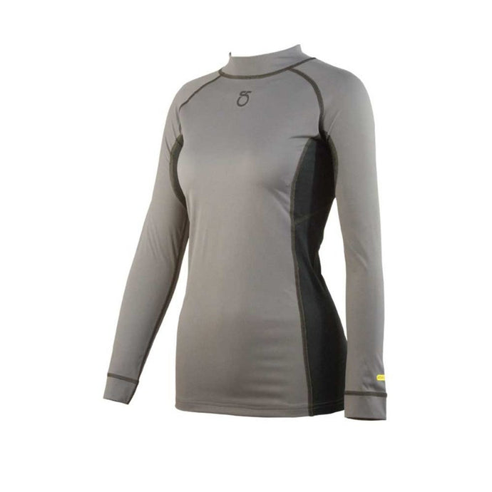 SeasonFive Women's Siren Mock Atmos 1.0 back zip top for standup paddleboarding, sup, kayaking, water sports, snowsports, sailing, biking, and surfing