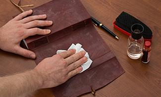 Caring for and cleaning leather wallets.