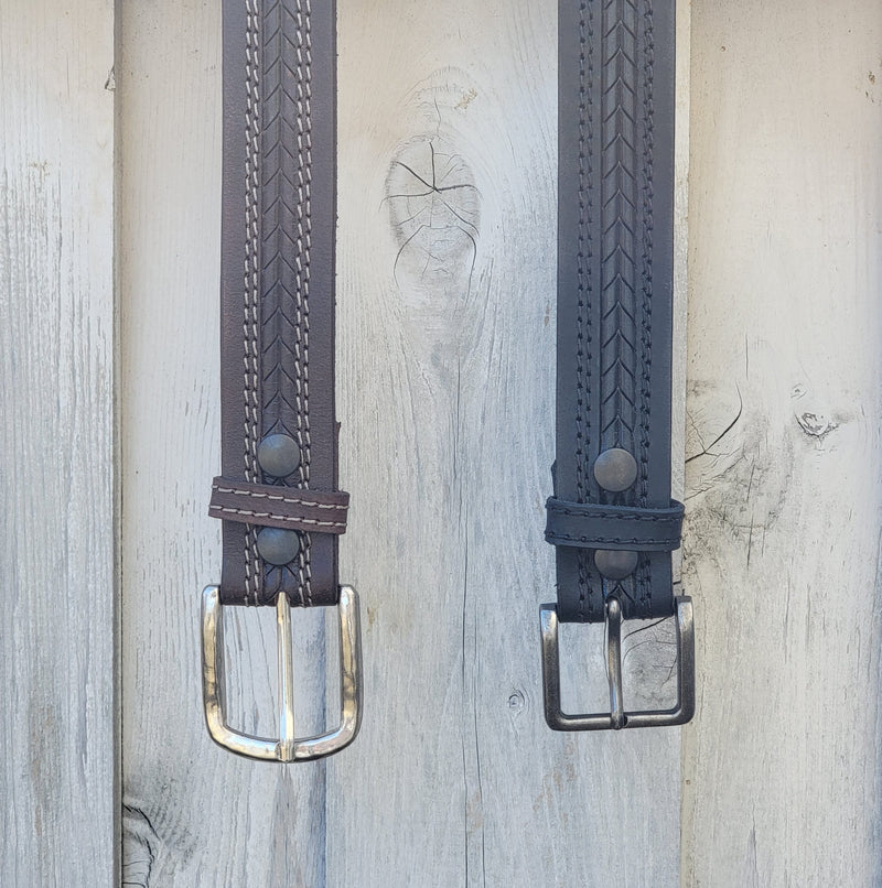 The Purpose Belt - Arrow Patterned 100% Real Leather Belt