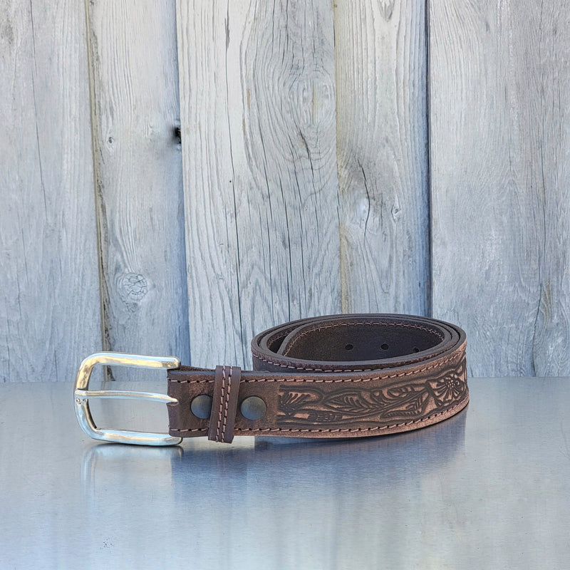 Brown Artistic 100% Full Grain Leather Belt
