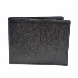 Men's Black Mild Leather Wallet with RFID Blocking and Compact Button Lock - Nab Leather Co