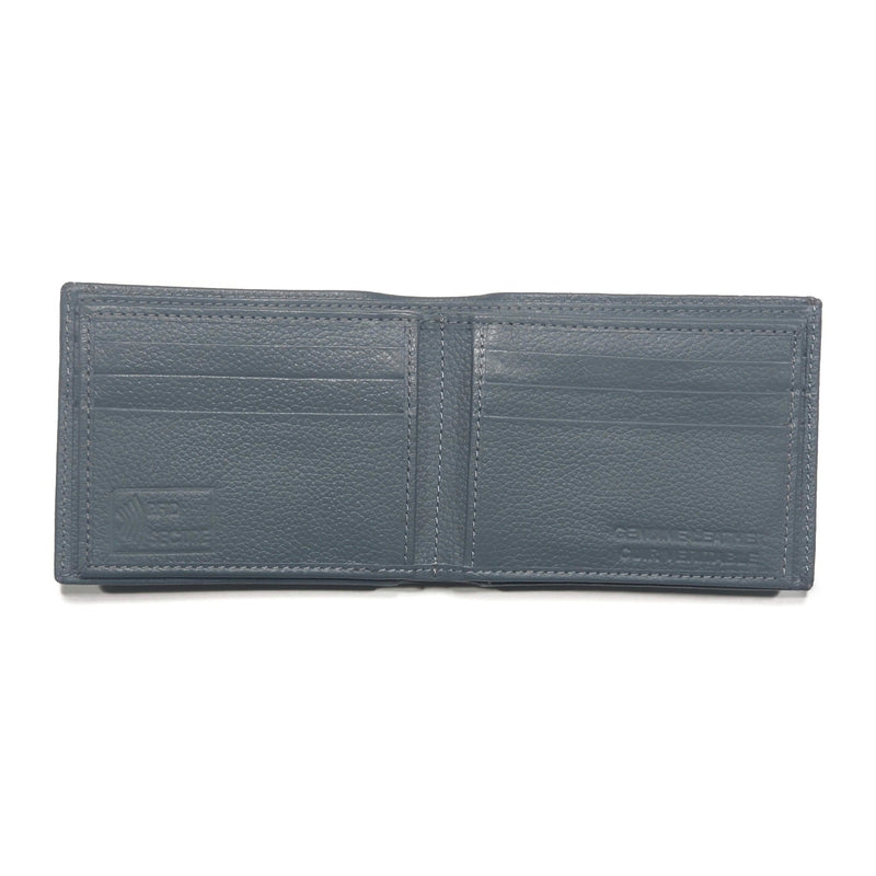 Men's Grey Smooth Genuine Leather Wallet with RFID Blocking - Nab Leather Co
