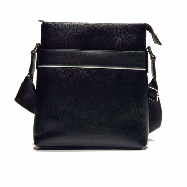 Black PU Leather Messanger Bag - Nab Leather Co