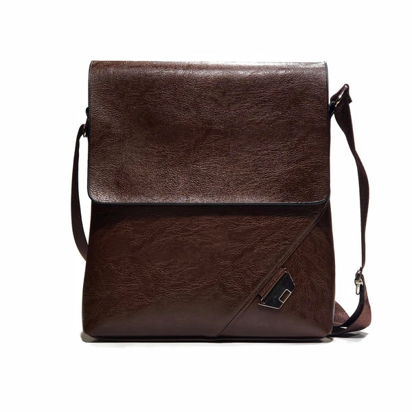 Bronze PU Leather Messanger Bag - Nab Leather Co