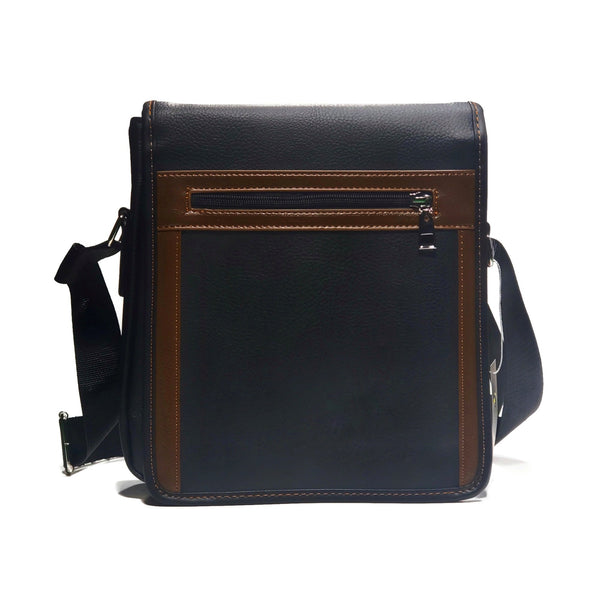 Two toned PU Leather Messanger Bag - Nab Leather Co