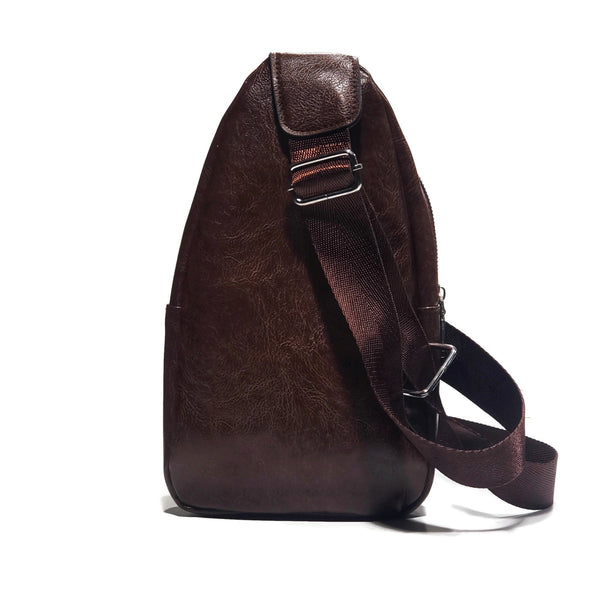 Brown PU Leather Cross Body Bag - Nab Leather Co