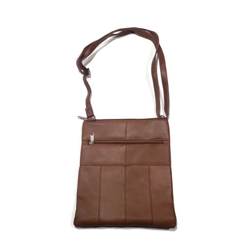 Brown 100% Genuine Leather Side Bag - Nab Leather Co