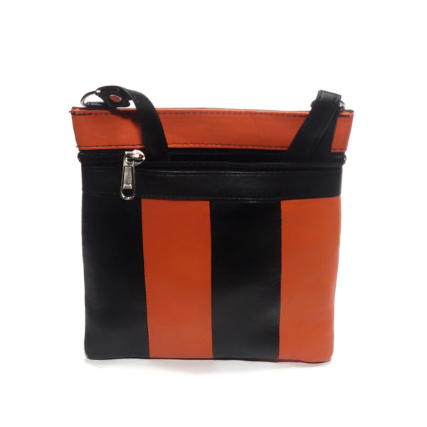 Small Orange 100% Genuine Leather Shoulder Bag - Nab Leather Co