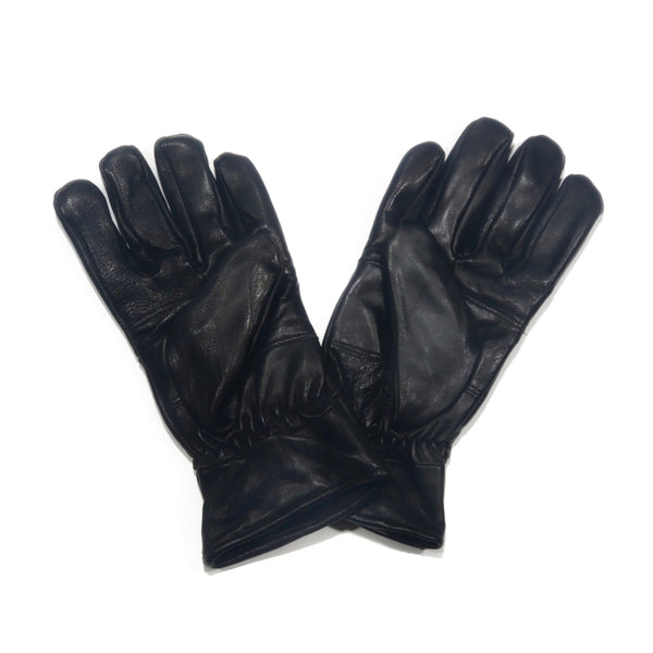 Men's Black Simple 100% Genuine Leather Gloves - Nab Leather Co