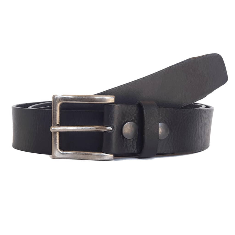 Black Classic 100% Real Leather Belt Made in Canada