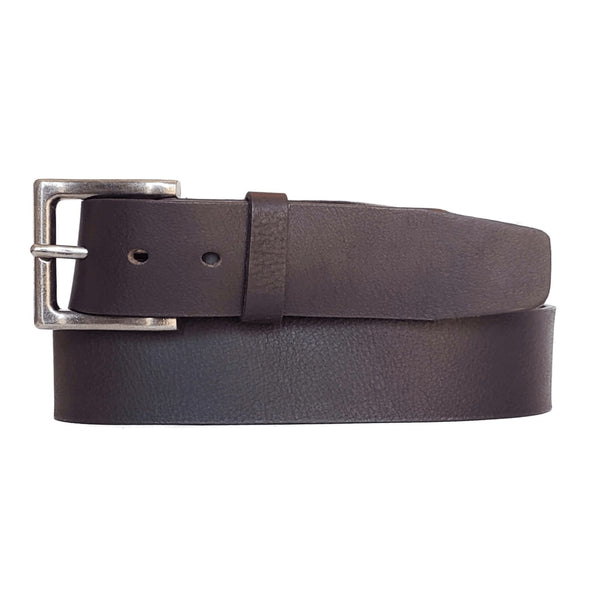 Dark Brown Classic 100% Real Leather Belt Made in Canada