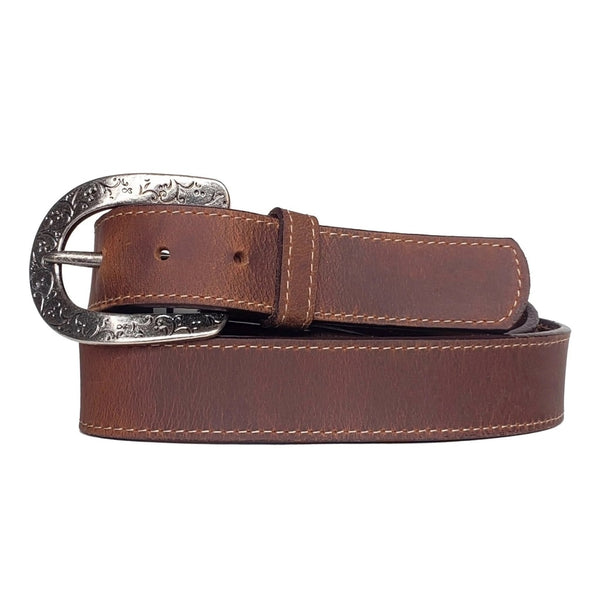 Women's Western 100% Real Leather Belt Made in Canada