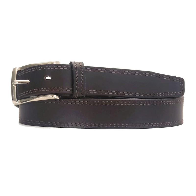 Brown Formal 100% Real Leather Belt Made in Canada