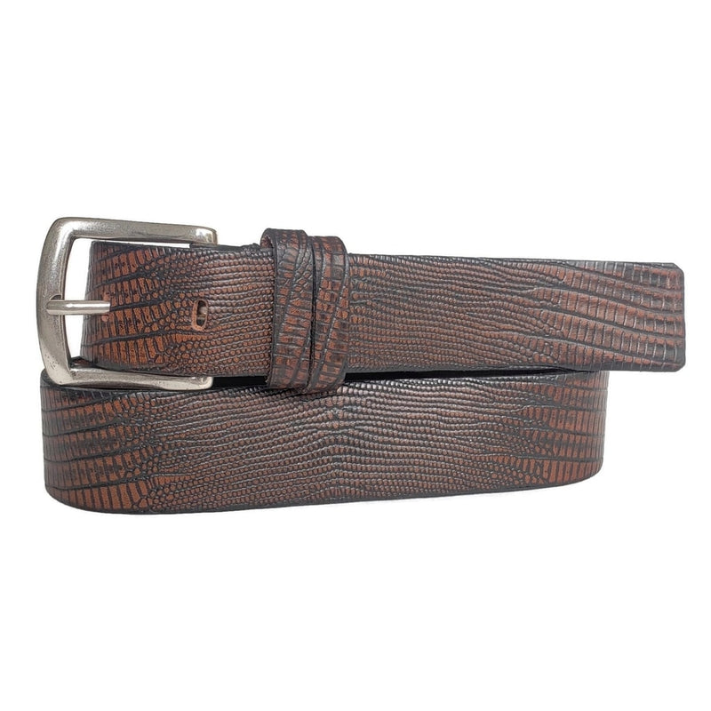 Reptile Patterned 100% Real Leather Belt Made in Canada