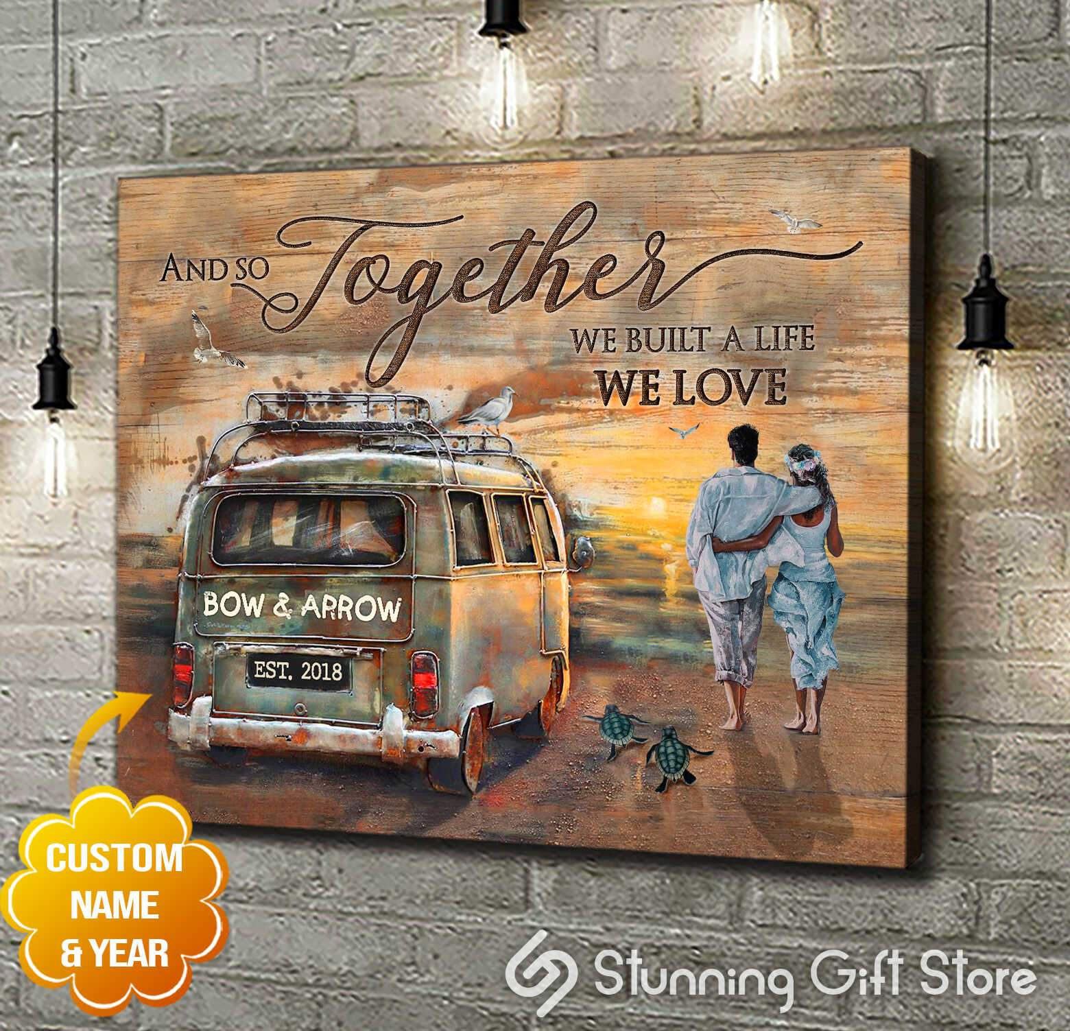 Together we built a life we love   Canvas Print   Stunning Gift Store
