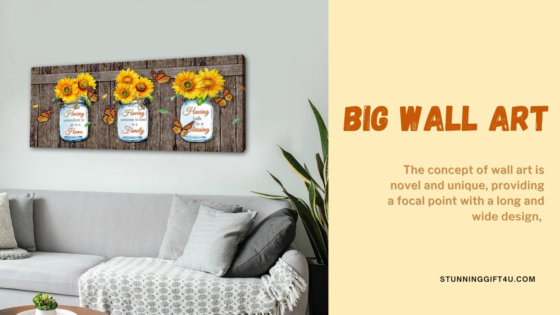 big canvas prints gift for him