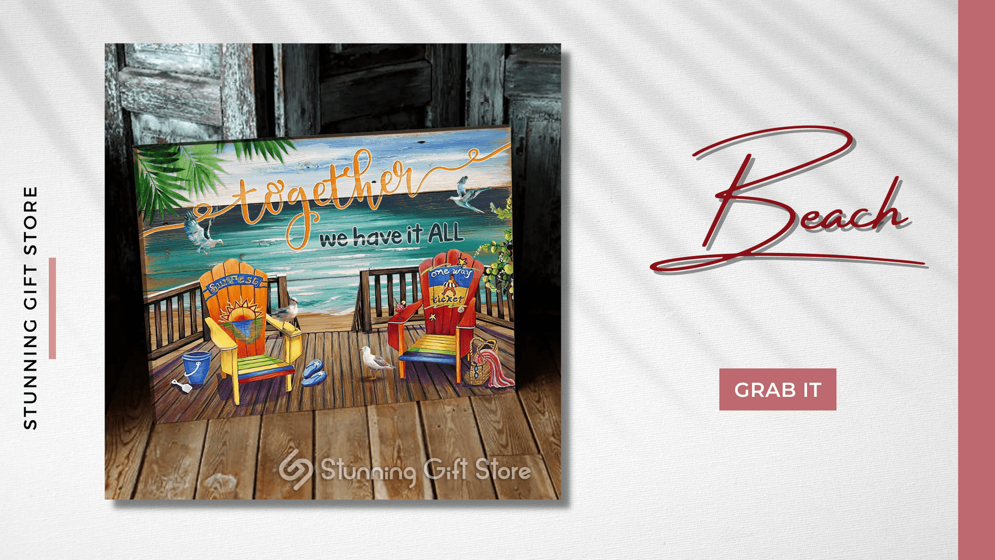 Coastal Wall Decor | Together We Have It All Wall Art